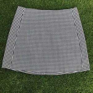 Urban outfitters gingham plaid skirt